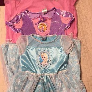 Two Disney princess PJS